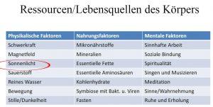 Lebensquellen des Körpers nach Prof. Spitz