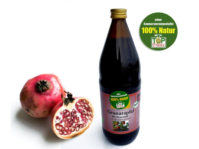 Bio Granatapfelsaft - 100% Direktsaft aus vollreifen Granatäpfeln - 1 Liter