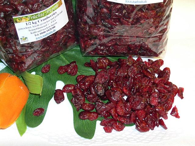 cranberries cranberry moosbeere getrocknet ges sst. Black Bedroom Furniture Sets. Home Design Ideas