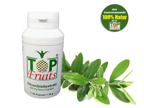 Olivenblattextrakt - 500 mg Mono-Kapseln, vegan, glutenfrei