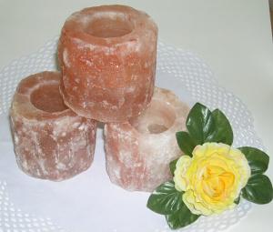 Kristallsalz, Teelicht, ca 10cm/1kg