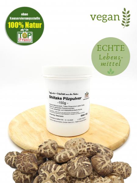 Shiitake Pilzpulver natur, ohne Zusätze