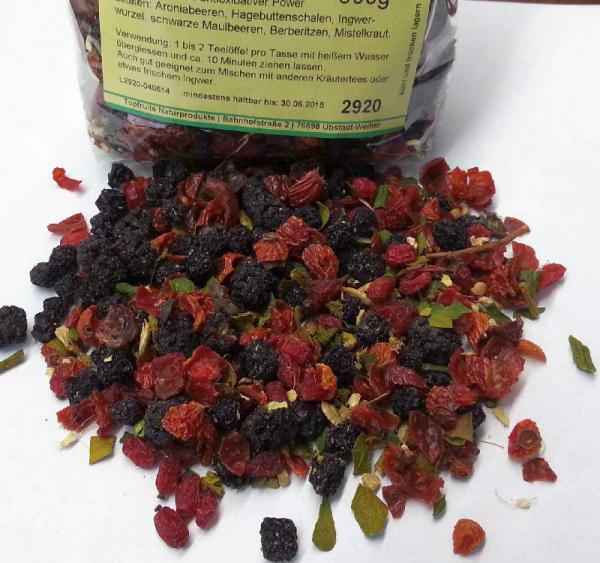 Beeren-Vitaltee Spezialmischung mit Aronia, Berberitzen, Hagebutten, Maulbeeren u.A. 100% Natur
