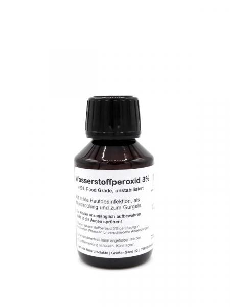 Wasserstoffperoxid 3% - laborgeprüft - HP (H2O2) unstabilisiert, rein