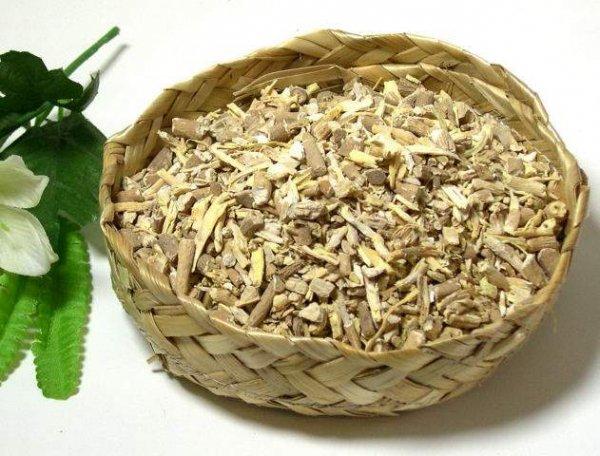 Ashwaganda-Wurzel (Withania somnifera), getrocknet, geschnitten (Winterkirsche )
