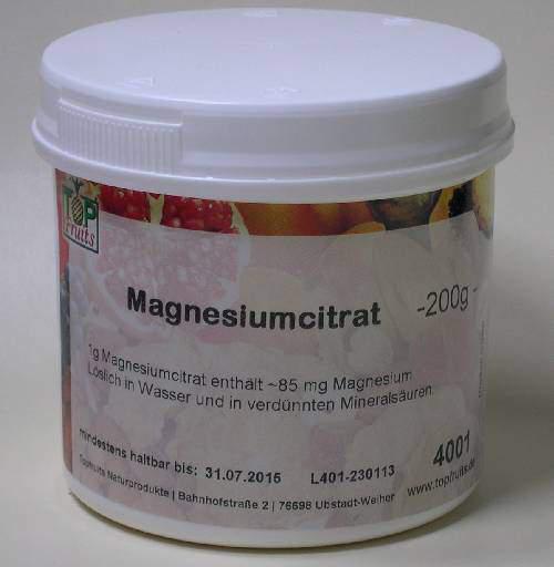 Magnesium(hydrogen)citrat Dose 200 gr. (Magnesiumcitrat, saures) -