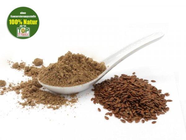 Leinsamenmehl, natur, teilentölt, bio kbA