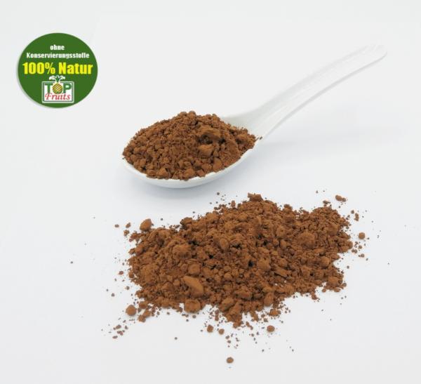 Kakaopulver 100%, bio kbA, Rohkostqualität (Cacaobohnen, entölt, gemahlen)