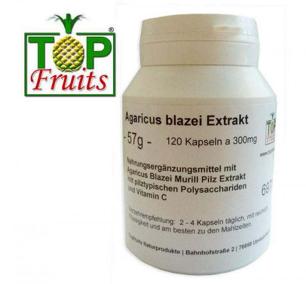 Agaricus blazei Murill Extrakt - 120 Kapseln a 300mg - (ABM, Brasil Egerling oder Mandelpilz)