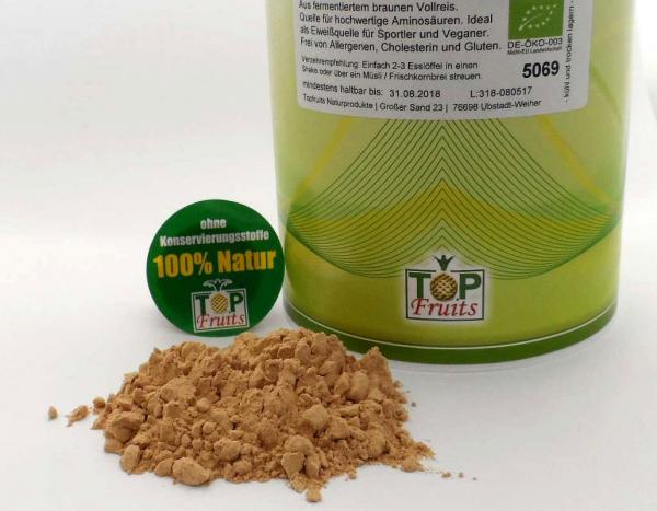 Reisproteinpulver 80%, natur, roh, bio kbA - aus fermentiertem braunem Vollreis - Kennenlernpreis