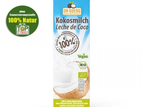 Kokosmilch, bio kbA, Dr. Goerg, 100% Kokos, 1000ml