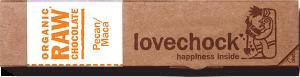Lovechock - Pecan-Maca - 40g Riegel - bio kbA und Rohkost, 81 % Kakao