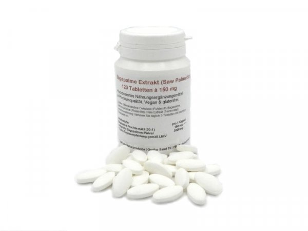Sägepalme Extrakt 20:1 (Saw Palmetto) 120 Tabletten a 150mg, vegan