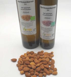 Aprikosenkernöl - kaltgepresst - (aus bitteren Aprikosenkernen), bio kbA