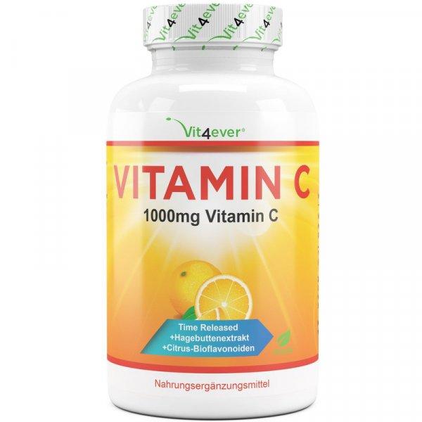 Vitamin C - 1000mg - Time Release - 365 Tabletten, vegan