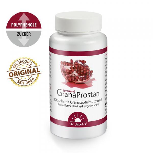 GranaProstan ferment, 100 Kapseln, mit Granatapfelmuttersaft-Extrakt, vegan