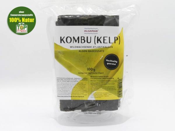 Kombu Algen (Kelp), Blätter, 100g, Rohkost, vegan, Wildwuchs