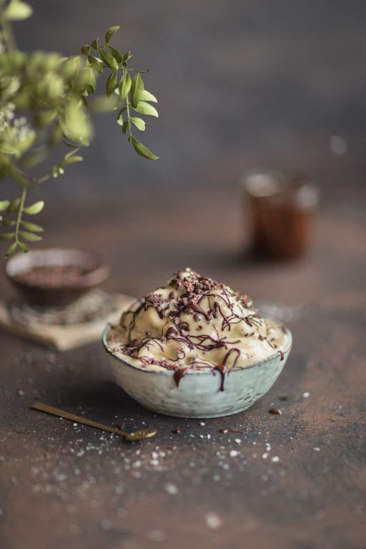 Kakao Nibs Bananen Eiscreme