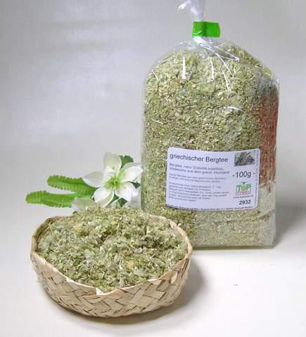 Griechischer Bergtee, natur (Sideritis scardica, Berufskraut), Wildwuchs