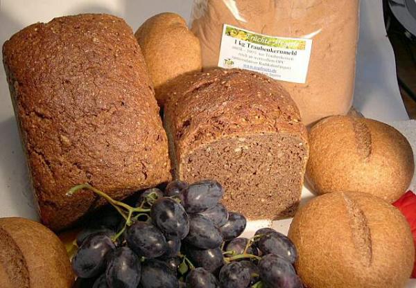 Backmischung - 1000g - für Vitalbrot aus Vollkorn mit Natursauerteig und Traubenkernmehl