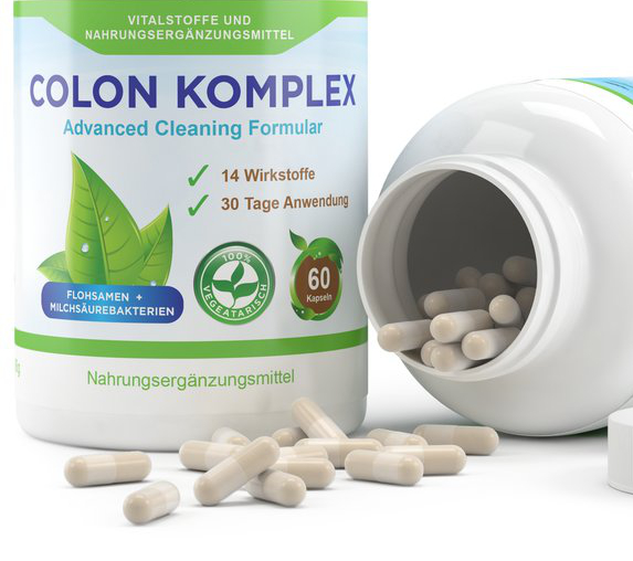 Colon Komplex - mit 150 mg Flohsamenschalen pro Kapsel, 60 Kapseln, 30 Tage Kur