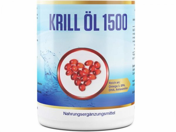 Krill Öl, 365 Softgels, 500mg Krillöl