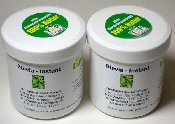 Stevia-Instant, lösliches Pulver aus der Stevia Pflanze