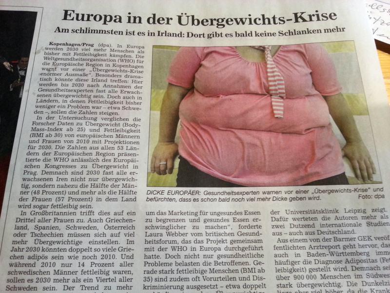 dicke Europäer