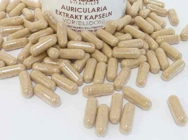 Auricularia Pilzextrakt, vegane Kapseln a 300 mg
