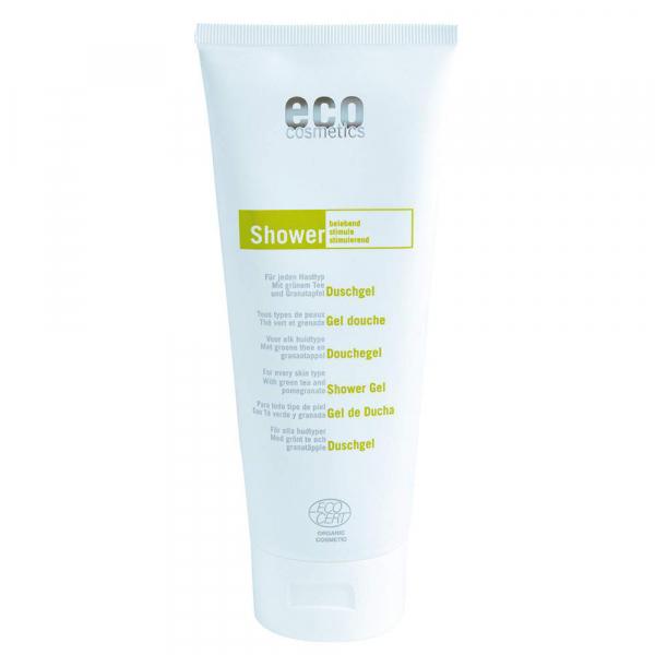 Eco Cosmetics - Bio Duschgel - 200 ml - mit grünem Tee und Granatapfel