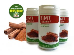 Zimtextrakt 10:1, 90 Kapseln mit je 200 mg Zink + Vitamin C
