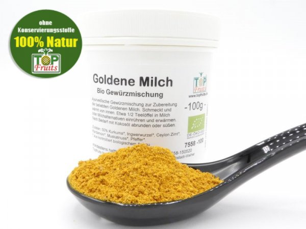 GOLDENE MILCH, ayurvedische Gewürzmischung, bio kbA, für Kurkuma Latte