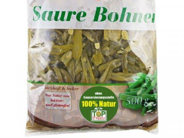 Saure Bohnen, geschnitten, unpasteurisiert - nur milchsauer fermentiert