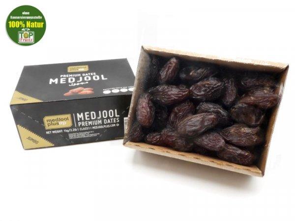 Medjool Datteln (Medjoul), natur, aromatische und extra dicke Spitzenqualität