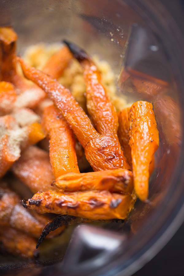 Gerösteter Karotten Hummus