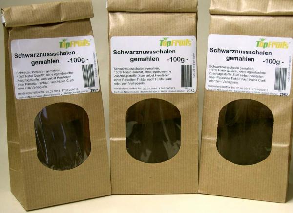 Schwarznuss gemahlen (Juglans nigra), 100% Natur