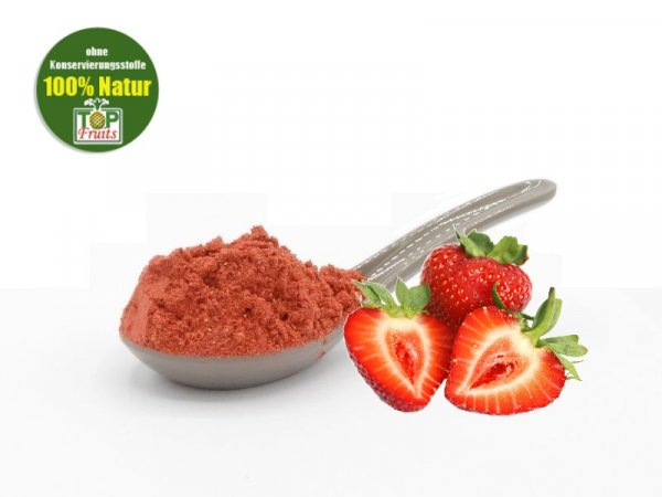 Erdbeerpulver, gefriergetrocknet, 100% Frucht, 100% Erdbeeren, 200g Dose