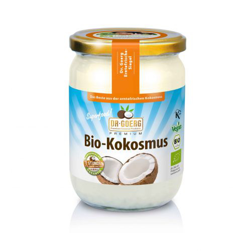 Kokosmus, natur von Dr. Goerg - bio kbA - 500g Glas - 100% Kokosnuss