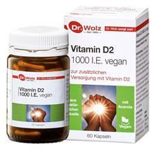 Vitamin D2 1000 I.E. vegan - Dr. Wolz - 60 Kapseln