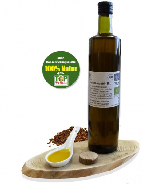 Bio-Leinöl (Leinsamenöl) - besonders mild, kaltgepresst, kbA