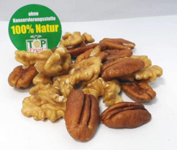 Nussduo - PEWA - Premium Nussmischung aus Pecan- und Walnusskernen, 500g