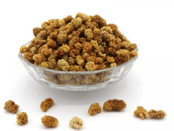 Maulbeeren hell, bio kbA, naturgetrocknet, honigsüßer Knabberspaß in Rohkostqualität