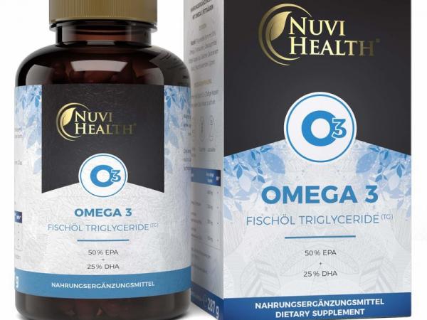 Omega 3 Fischöl, Triglyceride Form, 240 Kapseln, 1000 mg mit 50% EPA und 25% DHA