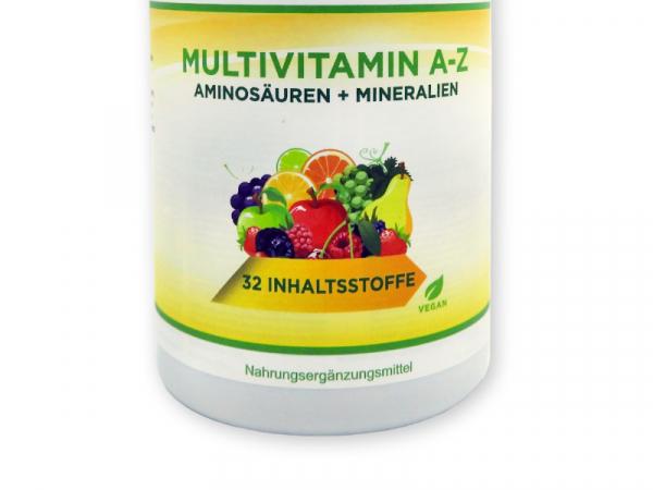 Multivitamin A-Z - Vitamine, Mineralstoffe, Aminosäuren, vegan, 365 Tabletten