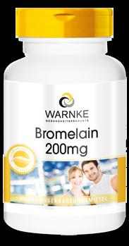 Bromelain pflanzliches Ananas Enzym mit 200mg Bromelain