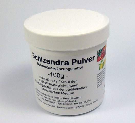 Schizandra Pulver (Schisandra, Wu-wei-zi) - 100g - 100% Pulver ohne Zuschläge