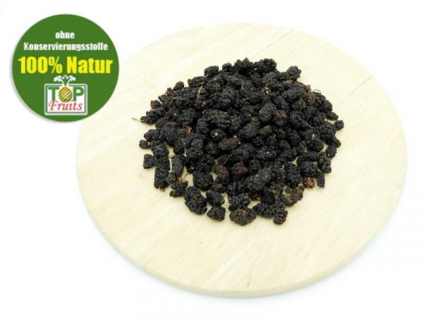 Maulbeeren getrocknet, schwarz, natur, bio kbA