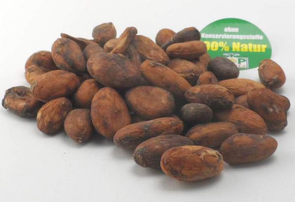 Kakaobohnen mit Haut, bio, ungeröstet