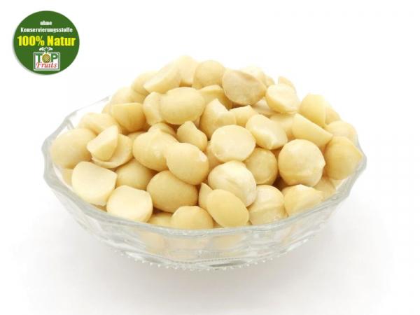 Macadamia Nusskerne, bio, Rohkost, ganze und halbe Kerne