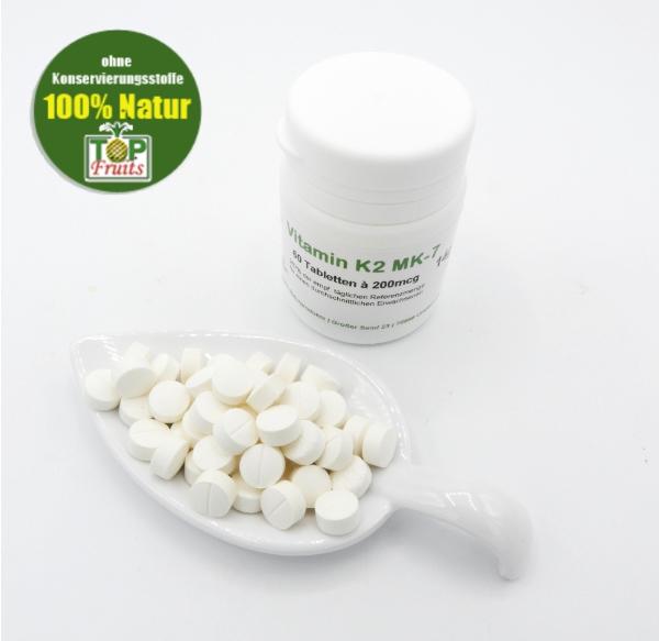 Vitamin K2 MK-7, 60 Tabletten a 200mcg, vegan, beste Bioverfügbarkeit